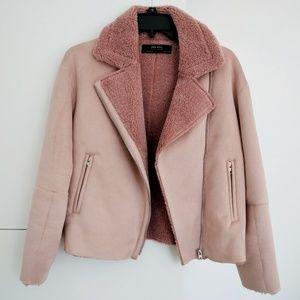 Zara suede effect jacket, like new!
